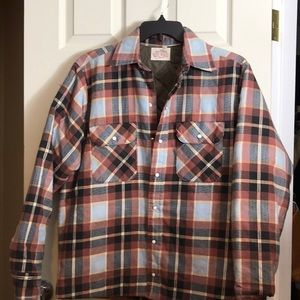 Mr Leggs  Plaid Flannel Shirt with a pearl snaps